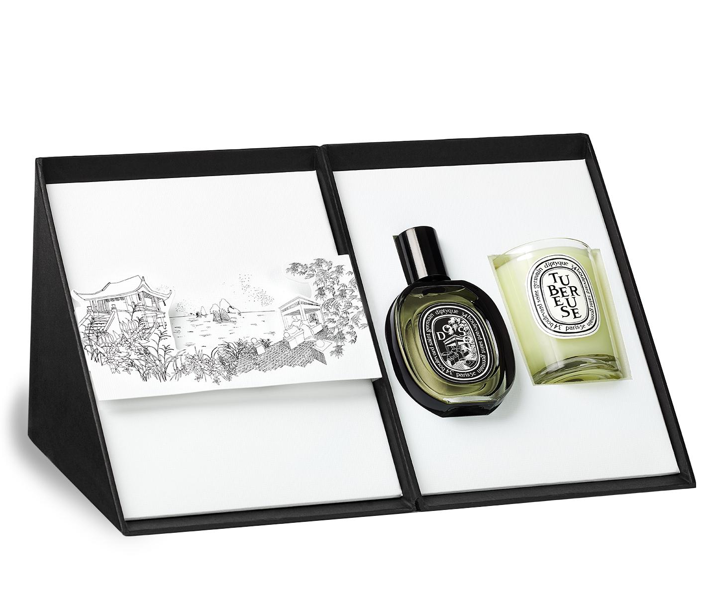 Do Son eau de Parfum and Tubéreuse / Tuberose candle gift set