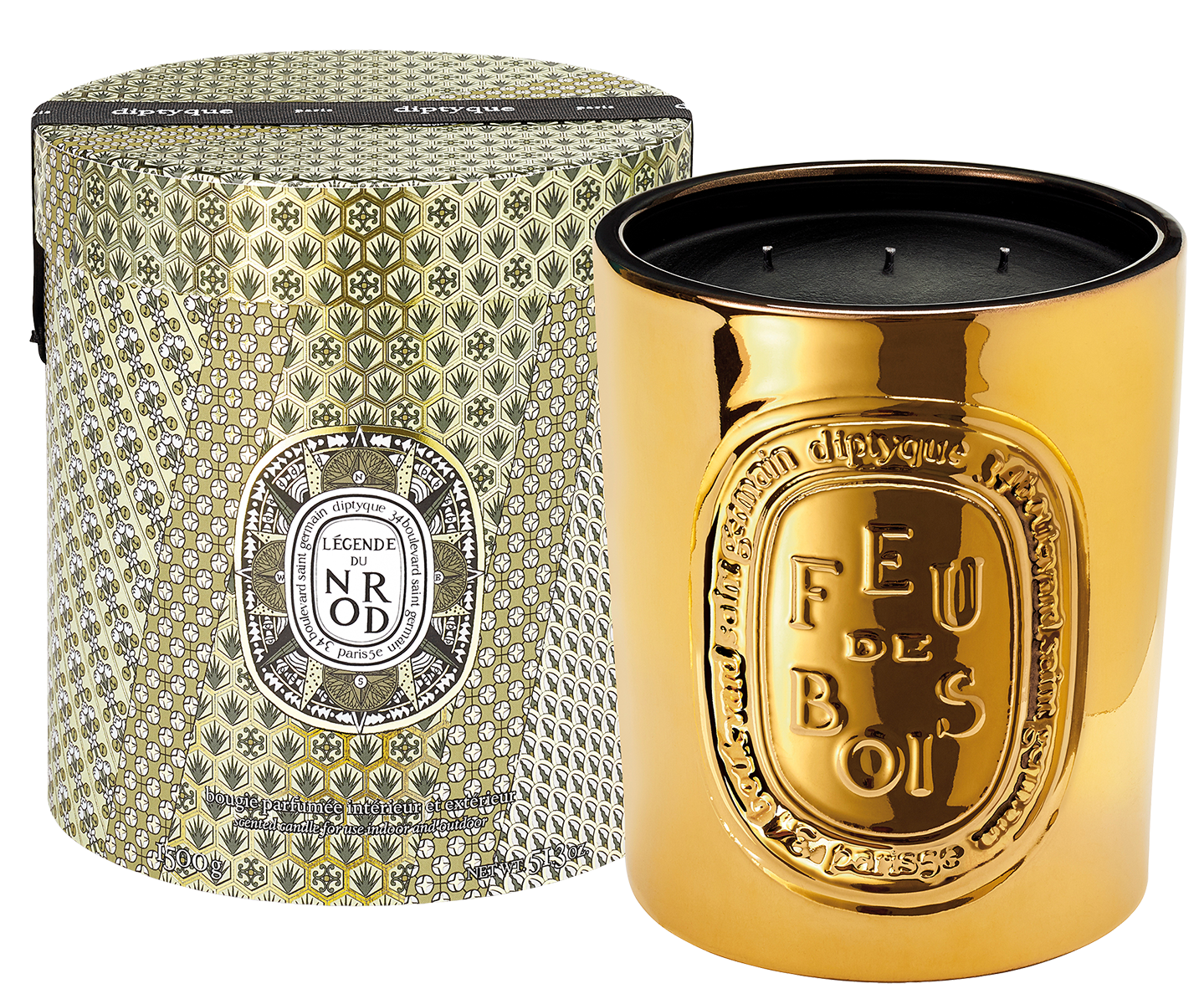 Indoor and outdoor Feu de Bois candle - limited edition