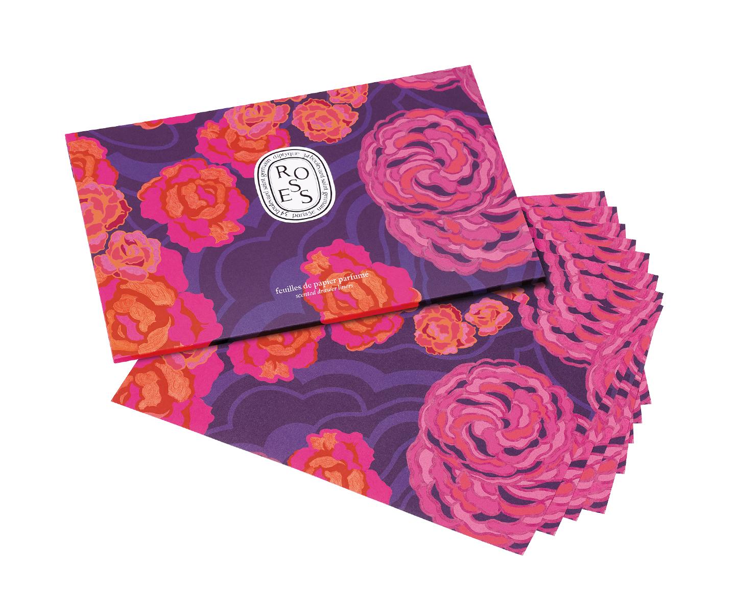 Feuilles de papier parfumé Roses