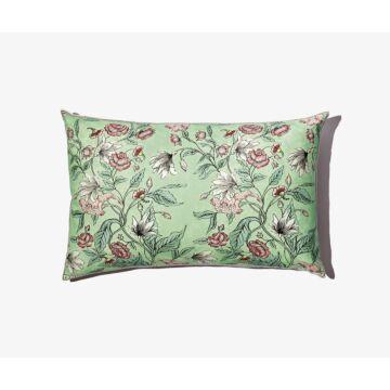 Large coloured Rosa Mundi cushion