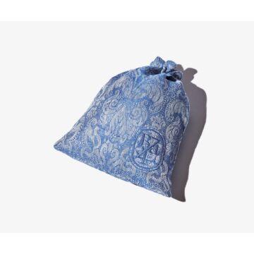 "Large blue ""Lys"" travel pouch"