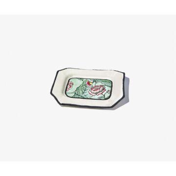 Coloured Rosa Mundi trinket bowl