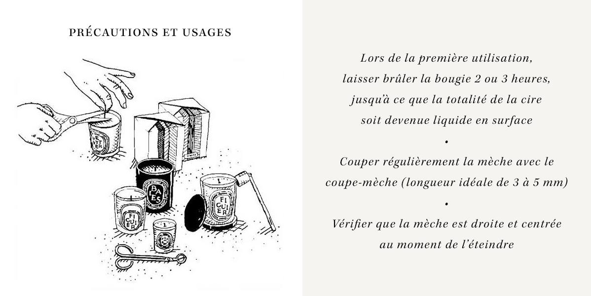 Bougies - Précautions et Usages